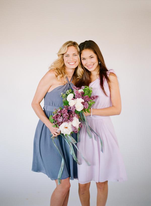Blue Bridesmaids Dresses Little Borrowed Dress 4