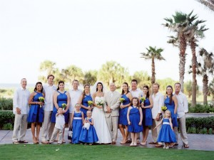 Blue and Yellow Bridal Party