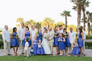 Blue and Yellow Bridal Party1