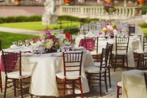 Classic Purple White Outdoor Wedding