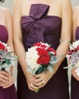 Cockscomb and Hydrangea Bouquets