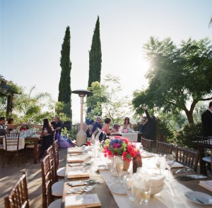 Colorful Outdoor Wedding Flowers