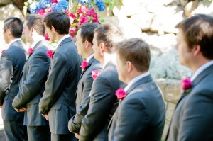 Colorful Pink and Blue Wedding