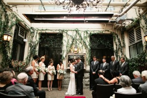 Courtyard Wedding Ceremony