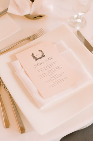 Elegant Black and White Menu