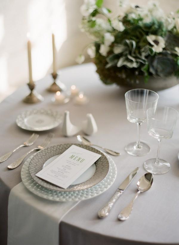 Elegant Gray Table Linens