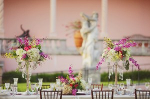 Elegant Purple Outdoor Wedding