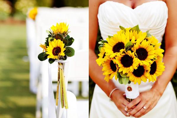 Elegant Summer Fall Wedding Flowers