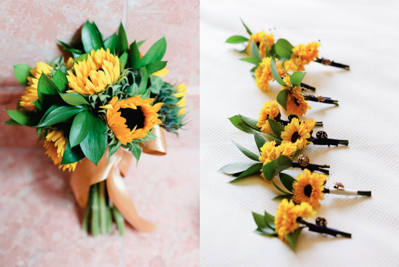Elegant Sunflower Wedding Bouquet - Elizabeth Anne Designs: The ...