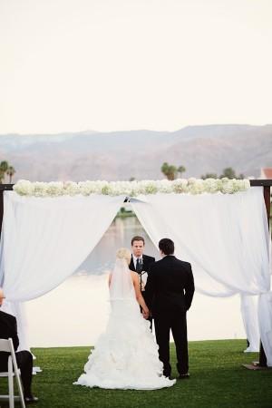Elegant White Wedding Ceremony 1