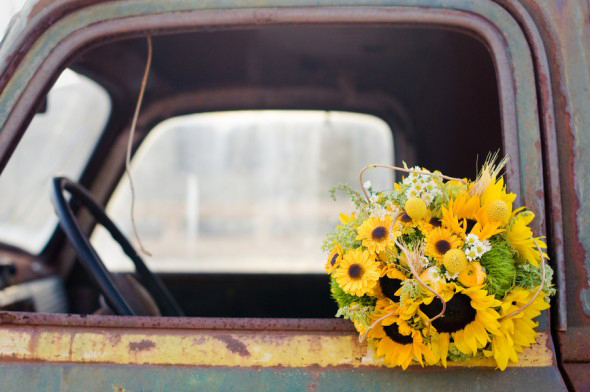 Farm Inspired Sunflwer Bouquet