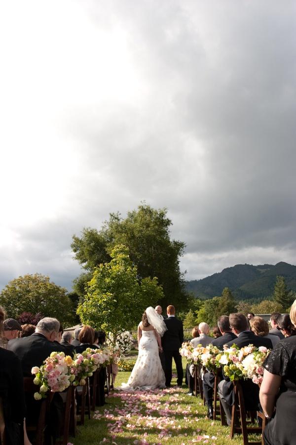 Flower Decorated Wedding Aisle
