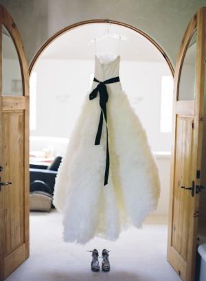 Fluffy Vera Wang Gown