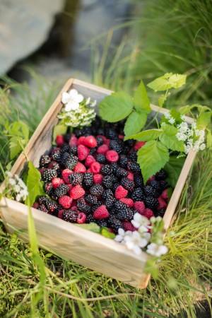 Fresh Berries in Crate