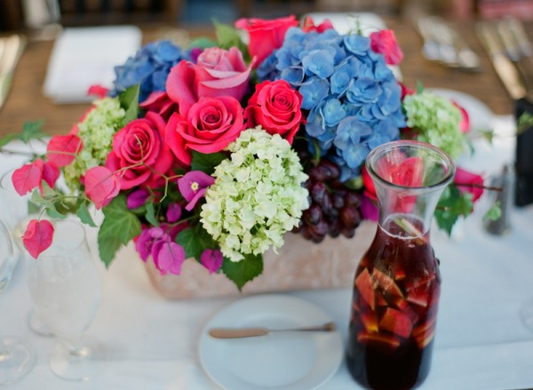 Fuschia Blue Wedding Flowers