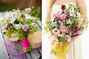 Garden Inspired Wedding Bouquets