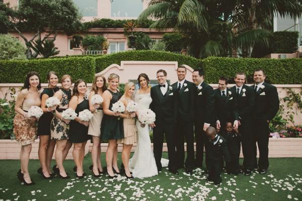 Glamorous Black and White Wedding Party