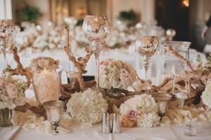 Glamorous Elegant Rustic Wedding Tablescape