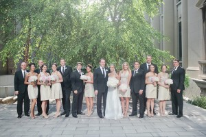 Gold Bridal Party Attire