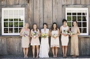 Gold Bridemaids Dresses 1