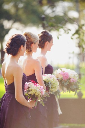 Grape Bridesmaids Dresses