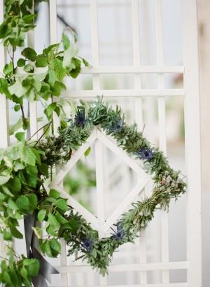 Green and White Wedding Ceremony Arbor 2