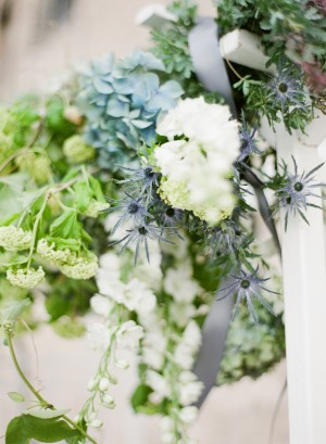 Green and White Wedding Ceremony Arbor 3