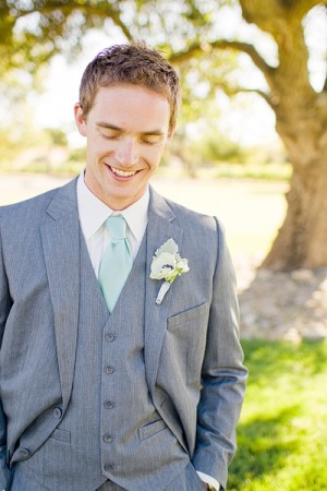 Groom in Seafoam Green Tie