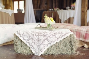 Hay Bale Wedding Decoration