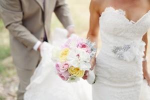 Lace Wedding Dress With Crystal Sash