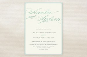 Minted Float + Spring Shades Wedding Invitations