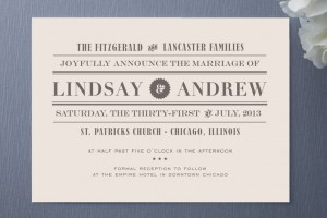 Minted Front Page News Wedding Invitations
