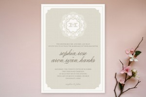 Minted Grand Lace Wedding Invitations