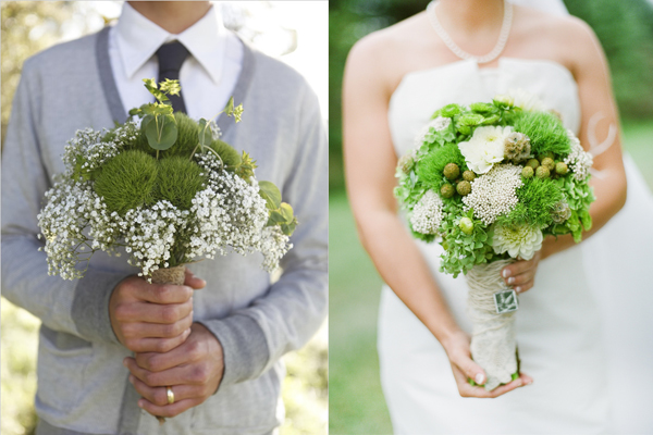 Modern Shabby Chic Wedding Bouquets