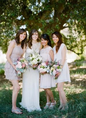 Neutral Bridesmaids Dresses1