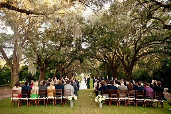 Outdoor Wedding Ceremony Garden Wedding: Legare Waring House Wedding From Juliet Elizabeth Photography