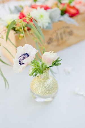 Painted Bud Vase Centerpiece