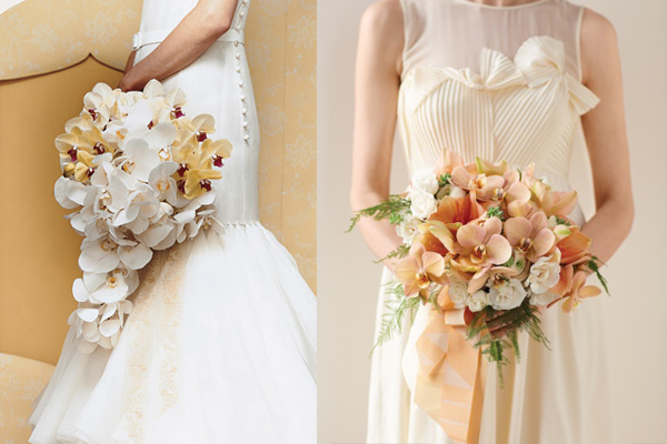 Peach Orchid Bouquets