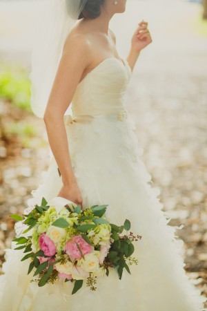 Peony Rose Greenery Bouquet