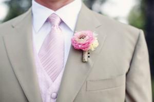 Pink Rose Boutonierre