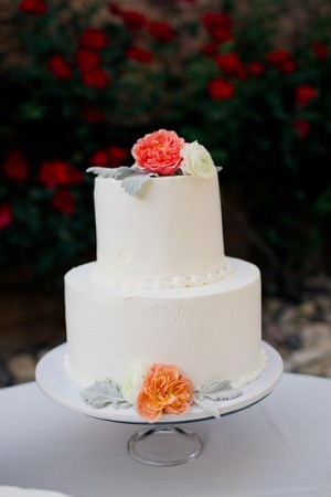 Pretty Buttercream Frosted Wedding Cake