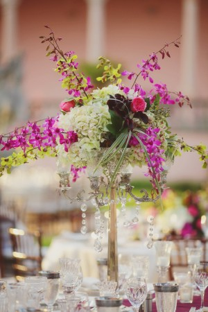 Purple Green Spray Centerpiece