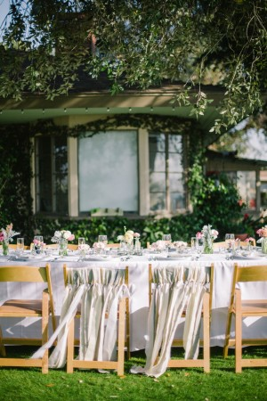 Ribbon Decorated Wedding Chairs