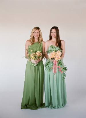 Sage and Celedon Bridesmaids Dresses Little Borrowed Dress 4