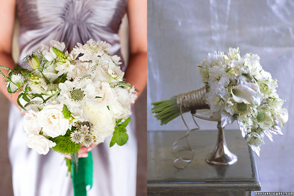 Scabiosa and Rose Bouquet