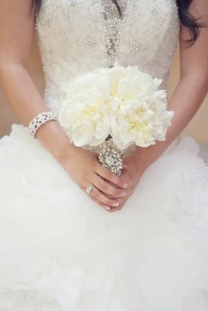 Small Peony Wedding Bouquet