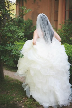 Soft Ruffled Wedding Gown