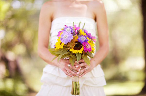 Summer Farm Stand Wedding Bouquet