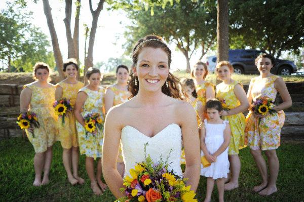Sunny Yellow Bridal Party