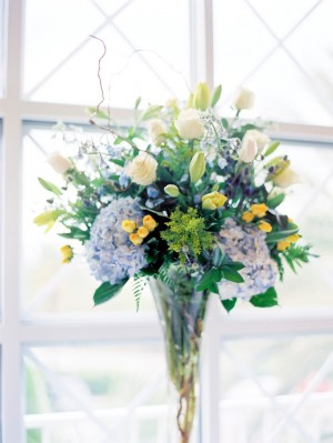 Tall Blue Wedding Centerpiece